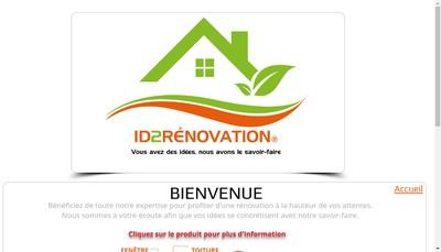 Site internet de Id2Renovation