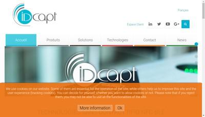 Site internet de Idcapt