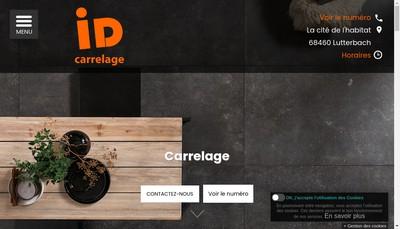 Site internet de Id Carrelage