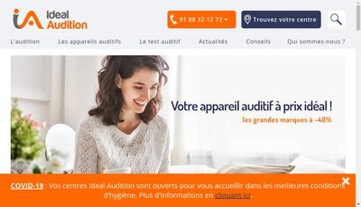 Site internet de Ideal Audition