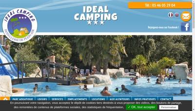 Site internet de Ideal Camping