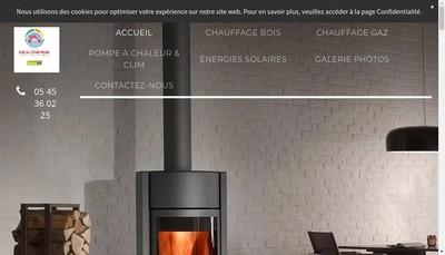 Site internet de Ideal'Energie Solutions Durables