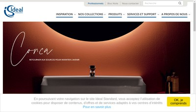 Site internet de Ideal Standard Industries France