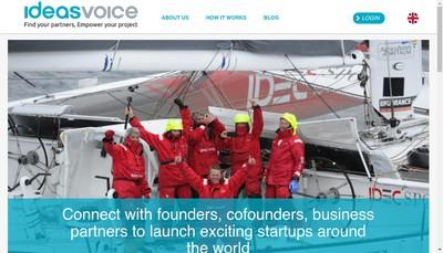 Site internet de Ideas Voice