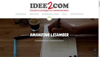 Site internet de Idee2Com
