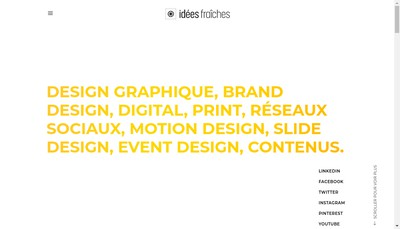 Site internet de Idees Fraiches