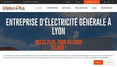 Site internet de Idelec Plus