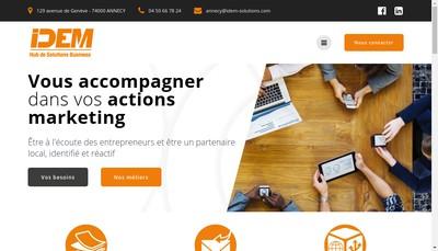 Site internet de Idem Solutions