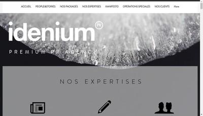 Site internet de Idenium