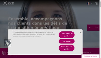 Site internet de Idex Territoires Holding