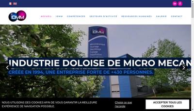 Site internet de Industrie Doloise de Micro-Mecanique