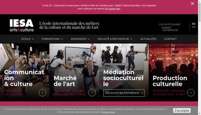 Site internet de IESA arts&culture