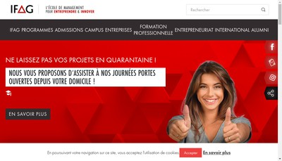 Site internet de Institut Formation Affaires et Gestion