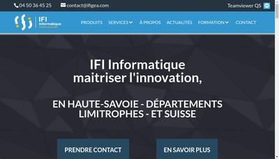 Site internet de Ifi Informatique