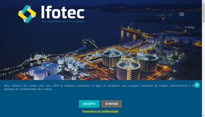 Site internet de Ingenierie Formation Technologie - Ifotec