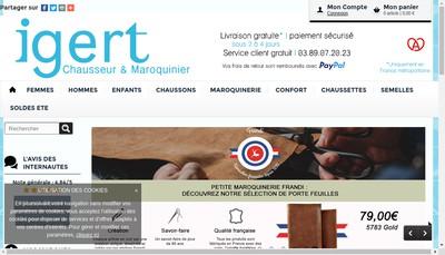 Site internet de Igert Chaussures