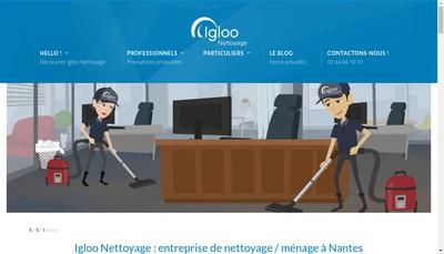 Site internet de Igloo Nettoyage
