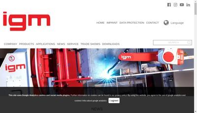 Site internet de Igm Robotique
