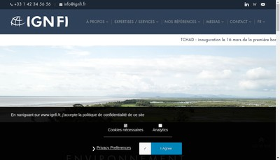 Site internet de Ingenierie Geographique Numerique Francaise a l'International