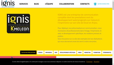 Site internet de SARL Ignis