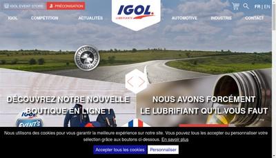 Site internet de Igol Picardie Ile de France