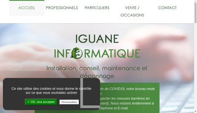 Site internet de Iguane Informatique