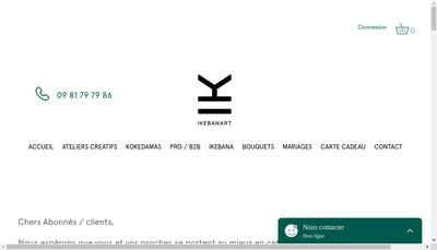 Site internet de Ikebanart