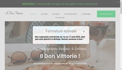 Site internet de Il Don Vittorio Sud
