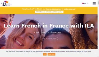 Site internet de Institut Linguistique Adenet