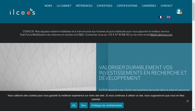 Site internet de Ilceos Innovation