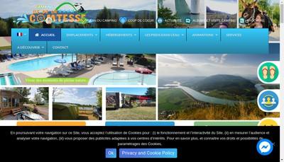 Site internet de Camping l'Ile de la Comtesse