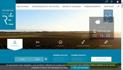 Site internet de Village Oceanique Ile de Re