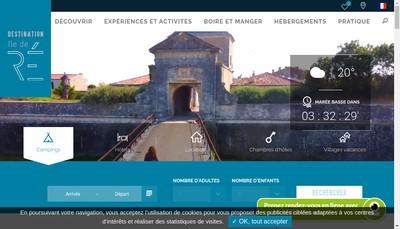 Site internet de Spl Destination Ile de Re