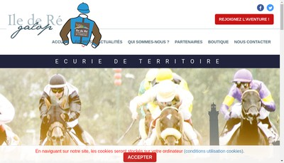 Site internet de Ile de Re Galop