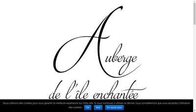 Site internet de L'Auberge de l'Ile Enchantee