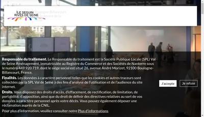 Site internet de Val de Seine Amenagement