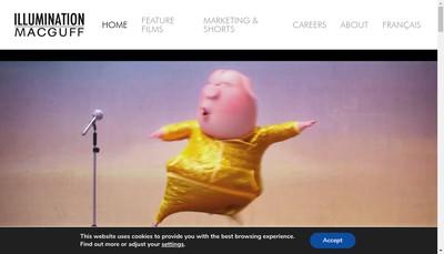 Site internet de Illumination Mac Guff