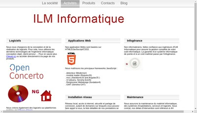 Site internet de Ilm Informatique