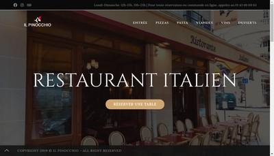 Site internet de Il Pinocchio