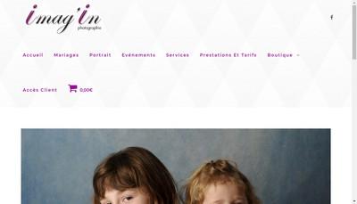 Site internet de Imag'In Photographie