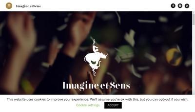 Site internet de Imagine & Sens