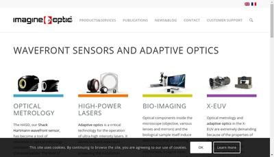 Site internet de Imagine Optic