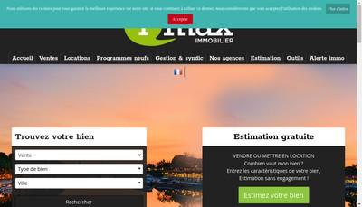 Site internet de Imax Gestion