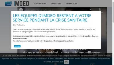 Site internet de Imdeo