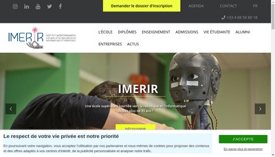 Site internet de Imerir