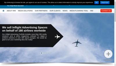 Site internet de Inflight Media Marketing Internation