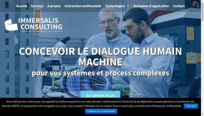 Site internet de Immersalis Consulting