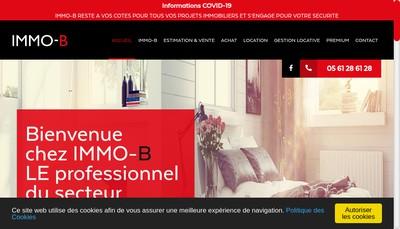 Site internet de Immo-B