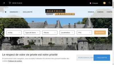Site internet de SARL Berthou Immobilier