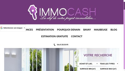Site internet de Immocash
